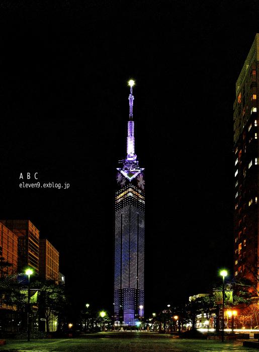 "Fukuoka  Tower  \""Yozakura\""_f0315034_12295362.jpg"