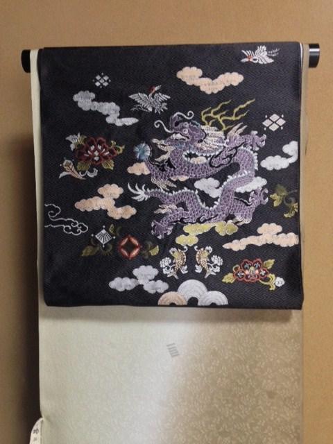 北野をどり・野村エミさん三眠蚕小紋に龍の帯。_f0181251_1643496.jpg