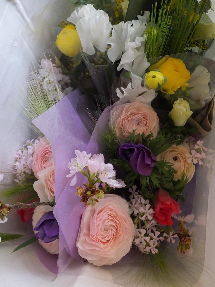 オークリーフ(卒業式の花束)_f0049672_13454515.jpg