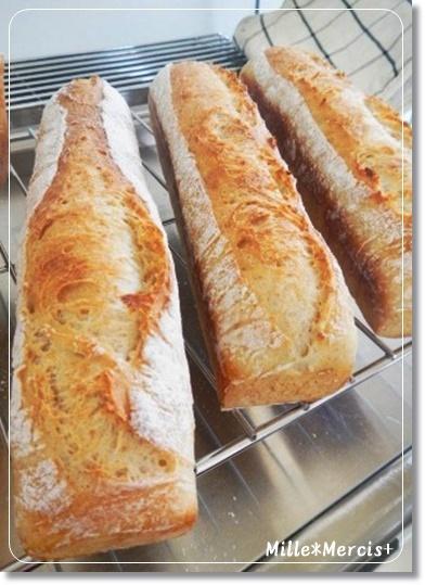 食パンだけどエッジばっちりnaバゲット成形で焼いたパン_a0348473_13530364.jpg