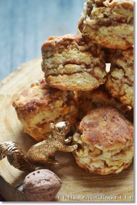【レシピ】餡子とクルミの層が美味しい和スコーン_a0348473_14290911.jpg