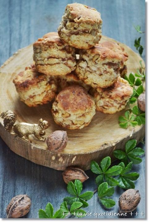 【レシピ】餡子とクルミの層が美味しい和スコーン_a0348473_14290913.jpg
