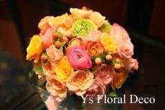 ピンク色のドレスに クラッチブーケと花冠_b0113510_20211741.jpg