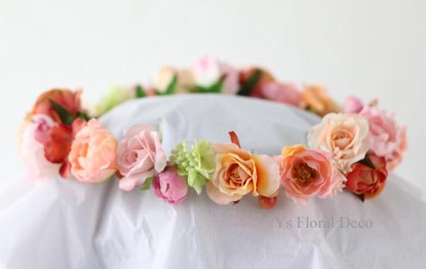 ピンク色のドレスに クラッチブーケと花冠_b0113510_20230311.jpg