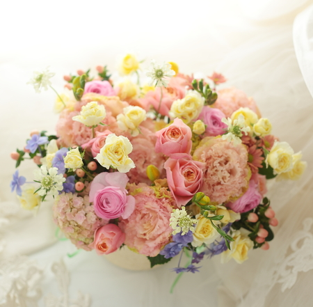 昨日は旦那様、今日は奥様、1日違いの誕生日にそれぞれのお母様へのプレゼントの花 &一会ピナー内職募集_a0042928_11525579.jpg