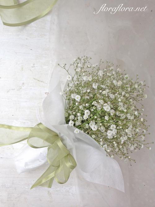 かすみ草クラッチブーケと花冠と@メゾンプルミエールアットロビンズ様 花嫁様からいただいたお写真 フラワースタジオフローラフローラ*東京目黒不動前_a0115684_00184431.jpg