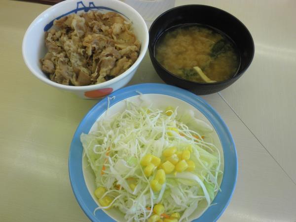松屋の牛めし     通天閣店_c0118393_1284735.jpg