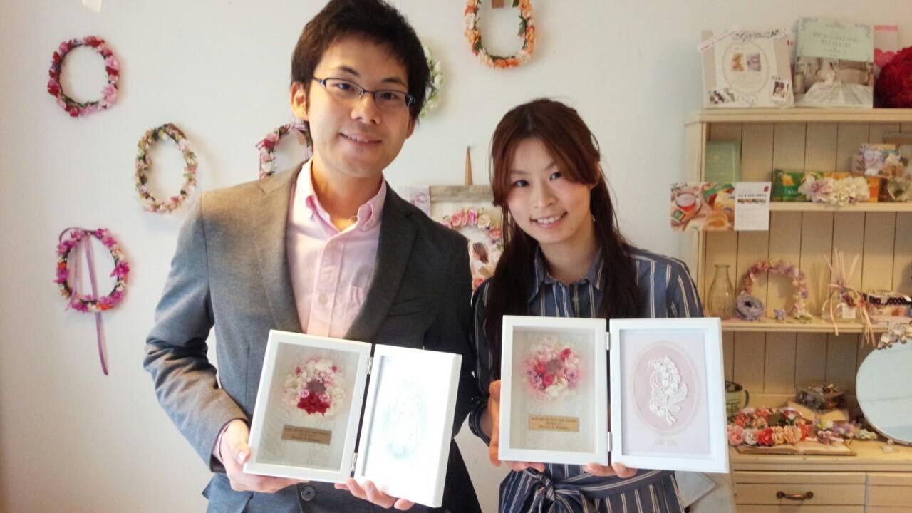 ご両親贈呈花【フォトフレーム】1dayレッスン_e0212771_16502361.jpeg