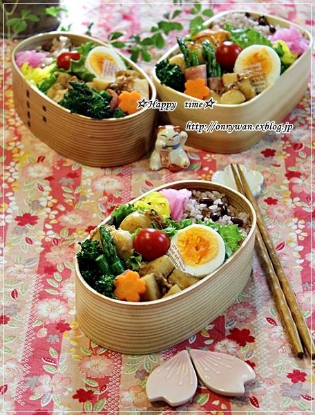 お赤飯弁当と地元の桜♪_f0348032_18233673.jpg
