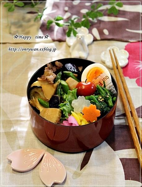 牛肉・春野菜の甘辛炒めでのっけ盛り弁当♪_f0348032_19063884.jpg