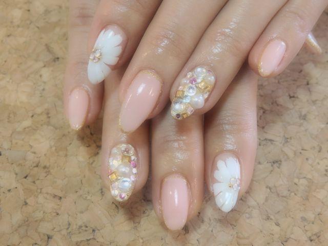 Pink Flower Nail_a0239065_17354785.jpg