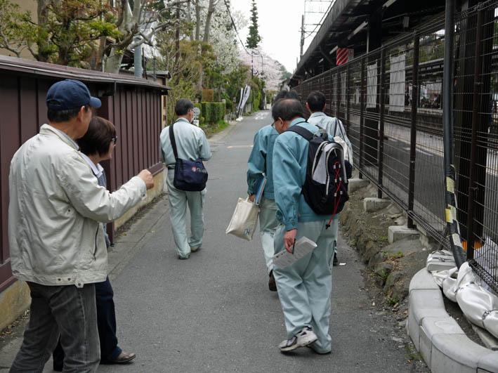 藤沢土木事務所職員4人が現地視察::緑の洞門通行禁止_c0014967_21495618.jpg