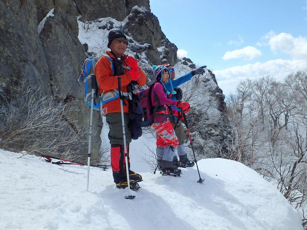 恵庭岳冬尾根、4月6日-同行者からの写真-_f0138096_22363083.jpg