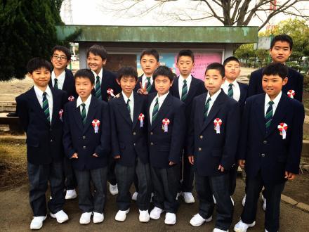 小山第三中学校入学式 : Sコーチのサッカー日記(^ ,^)y ...