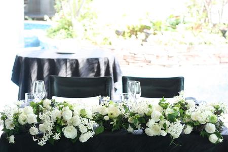 高砂装花 白と緑の花で ラピュタ様へ_a0042928_12174675.jpg