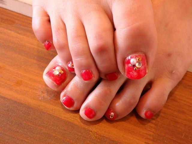 Marble Foot Nail_a0239065_13510726.jpg