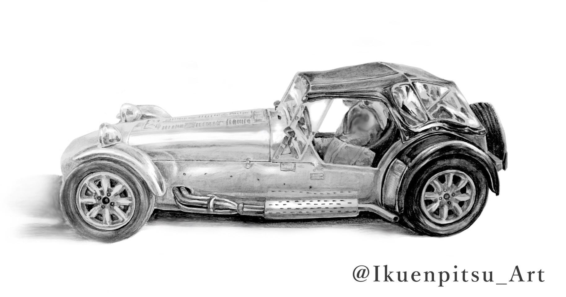クラシックカーの鉛筆画_f0099972_09295062.jpeg