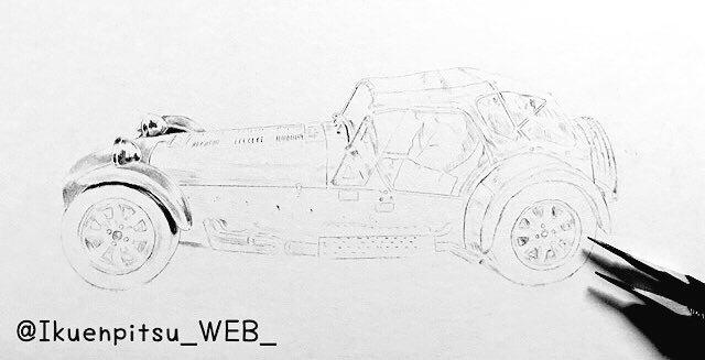 クラシックカーの鉛筆画_f0099972_09312686.jpeg