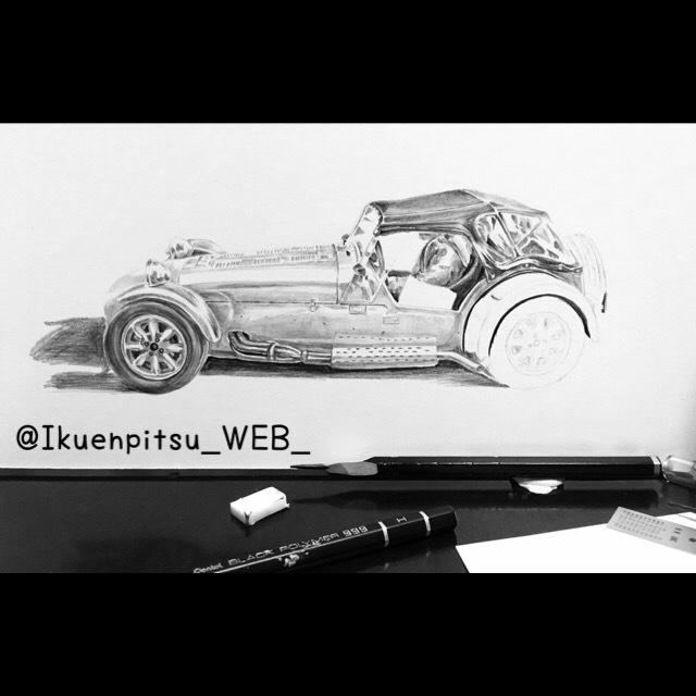 クラシックカーの鉛筆画_f0099972_09331125.jpeg