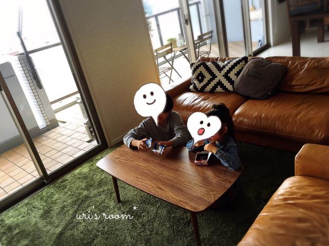 なにかと便利なミニテーブル!と、美味しい新玉ねぎ!_a0341288_15174829.jpg