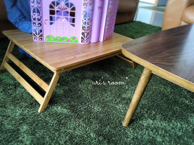 なにかと便利なミニテーブル!と、美味しい新玉ねぎ!_a0341288_17015706.jpg