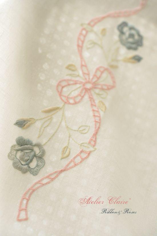 Ribbon&rosesのテーブルクロス~アイロンがけでピンと美しく~_a0157409_08263377.jpg