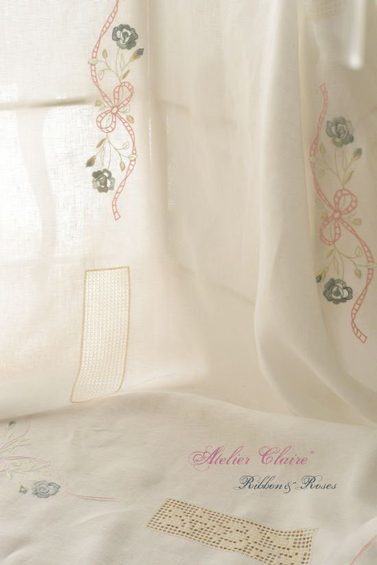 Ribbon&rosesのテーブルクロス~アイロンがけでピンと美しく~_a0157409_08274884.jpg