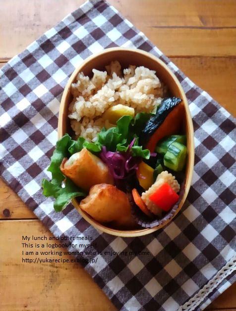 4.11 筍の炊き込みごはんの鮭弁当_e0274872_06503979.jpg