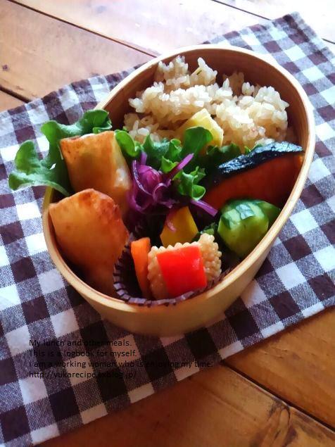 4.11 筍の炊き込みごはんの鮭弁当_e0274872_06504829.jpg