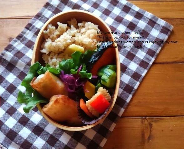 4.11 筍の炊き込みごはんの鮭弁当_e0274872_06505460.jpg