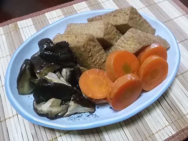 鍋で作るプリン&雪菜の塩炒め_f0019498_16151631.jpg