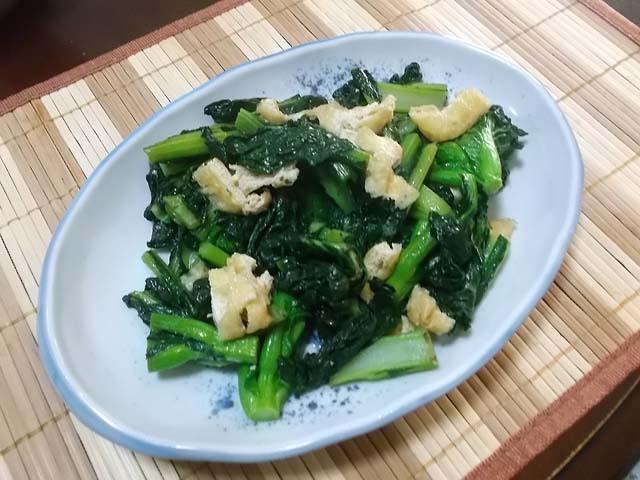 鍋で作るプリン&雪菜の塩炒め_f0019498_1653819.jpg