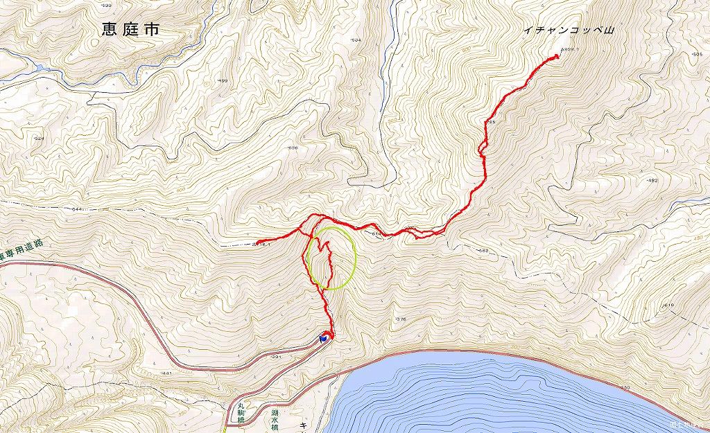 イチャンコッペ山と幌平山、4月12日_f0138096_1727482.jpg