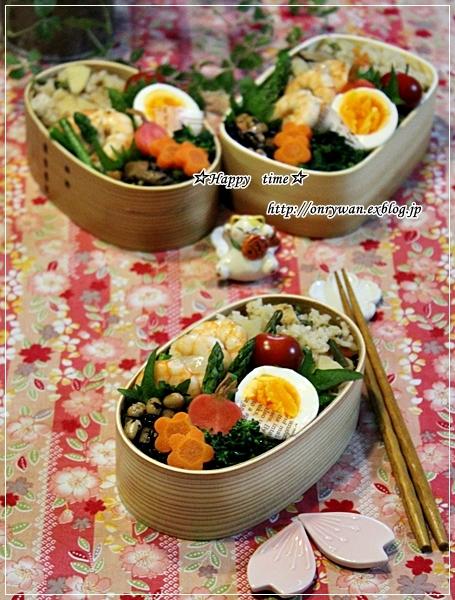 わらびと筍の炊き込みご飯弁当と~♪_f0348032_18524850.jpg
