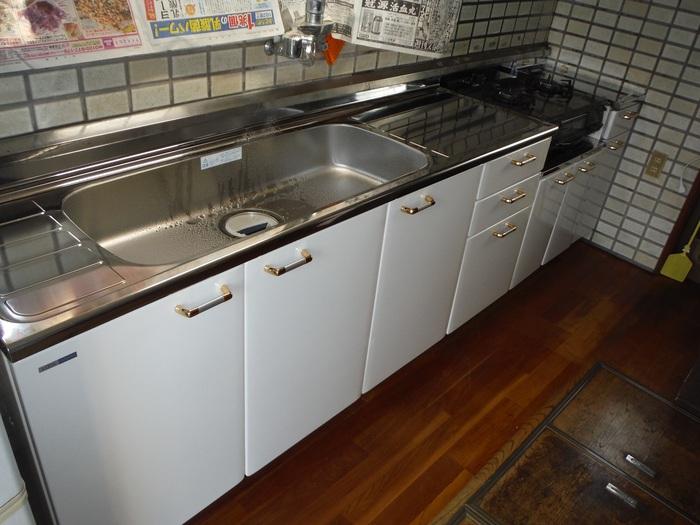 キッチンと廊下 ~ キッチン取替終了です。_d0165368_5553144.jpg