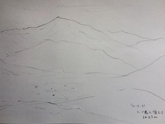 中央アルプス(水彩画)_e0233674_11204540.jpg