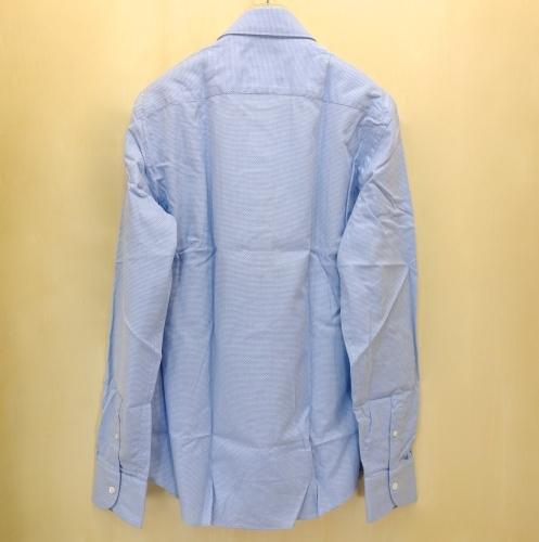 CIT LUXURY(チット・ラグジュアリー)メッシュ織柄サックスブルーシャツ(GPAUL)_c0118375_01550871.jpg