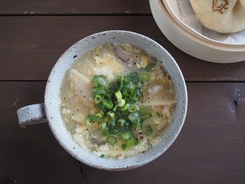 手作り肉まん&春キャベツと筍の中華スープで朝ごぱん_c0270834_13284641.jpg