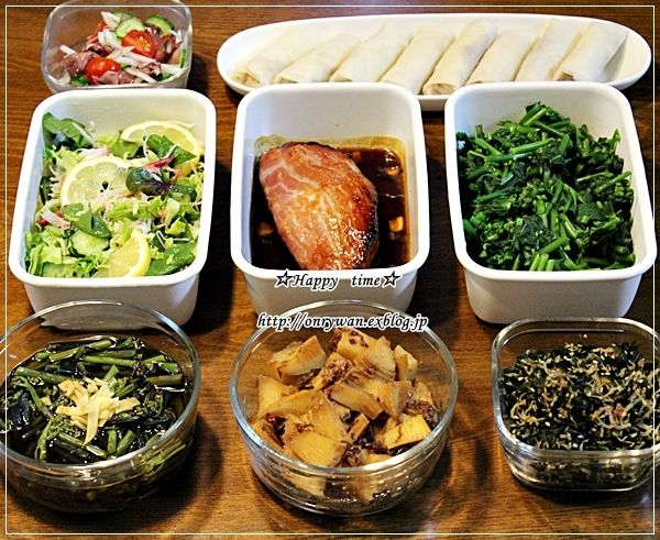 焼きカレーライス弁当と常備菜作り♪_f0348032_18044965.jpg