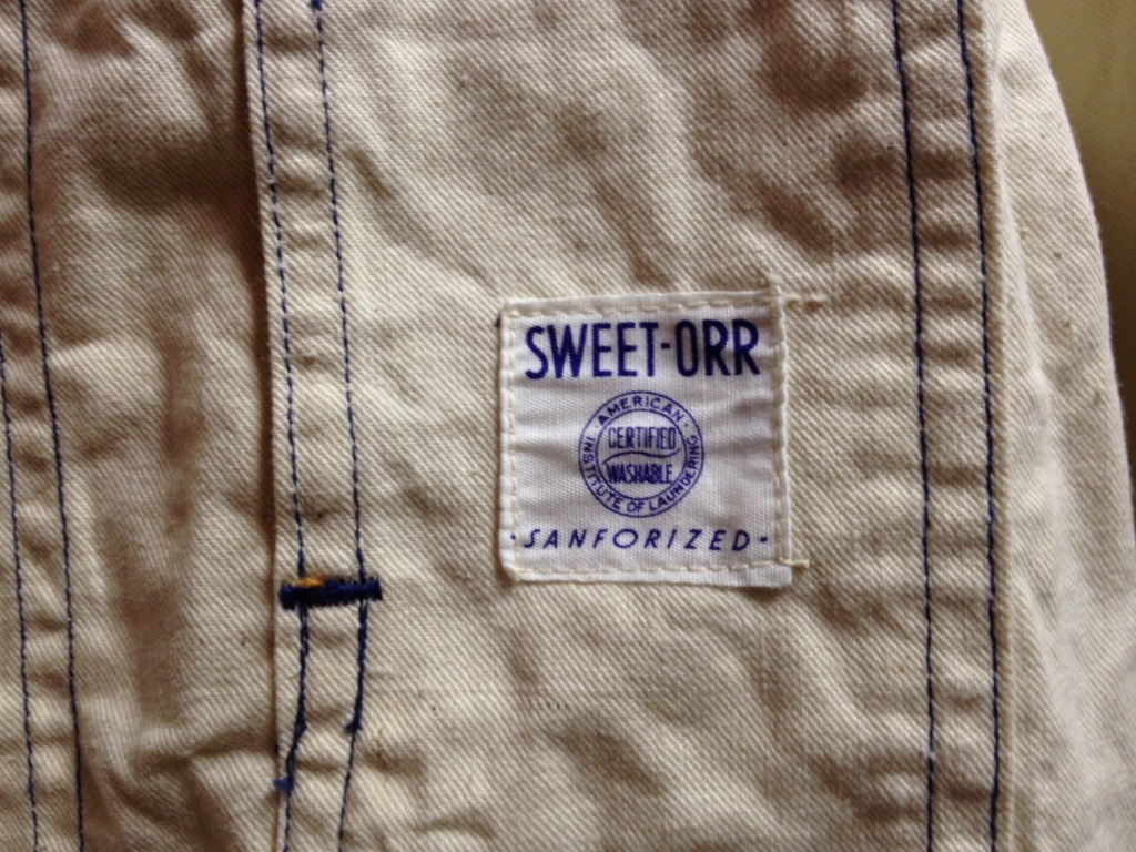 神戸店4/20(水)ヴィンテージ&スーペリア入荷!#1 50\'s Sweet-Orr D\'Stock Canvas CoverAll,10\'s OverAll!! _c0078587_12483472.jpg