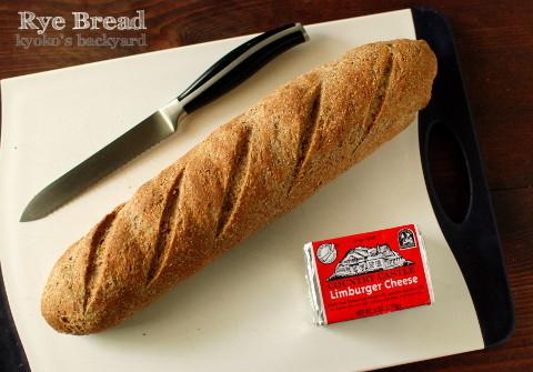リンバーガーチーズ用のライ麦パン_b0253205_05495903.jpg