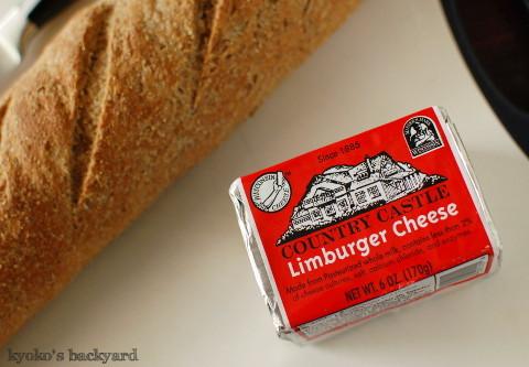 リンバーガーチーズ用のライ麦パン_b0253205_05505942.jpg