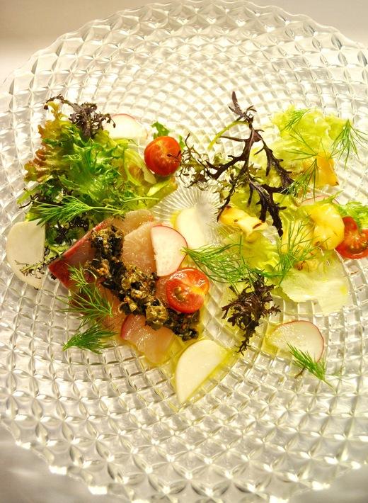 旬菜コース 天草の海と鎌倉や増田さんの畑のサラダ_c0130206_17511032.jpg