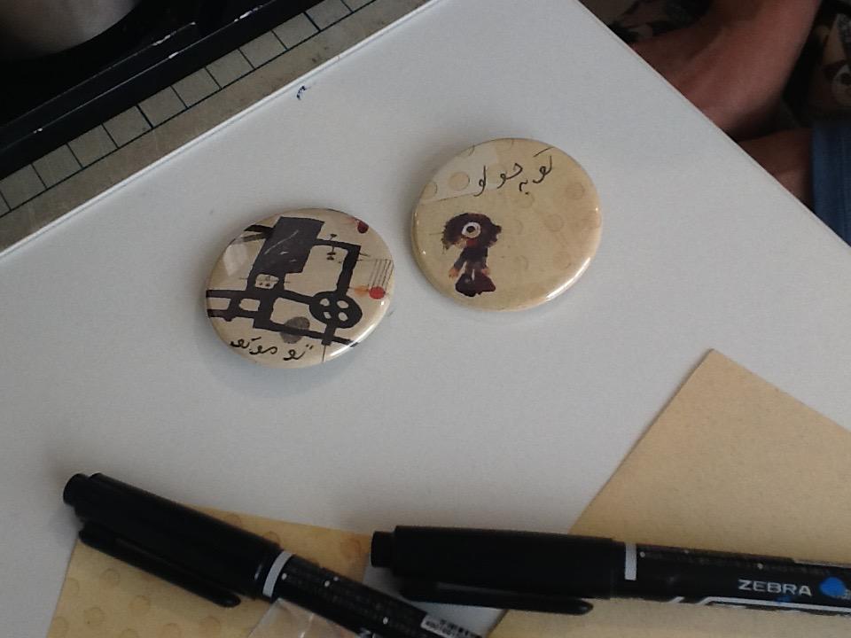 モルテザーの絵を使った缶バッジワークショップ_e0091706_2325123.jpg