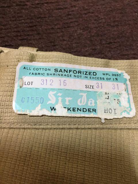 アメリカ仕入れ情報 #42 デッドストック大量発掘!! ⑭Sir Jac 60s all cotton テーパード パンツ! _c0144020_14123098.jpg