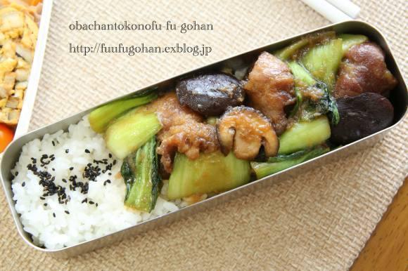 チンゲン菜のポークジンジャー弁当_c0326245_10285178.jpg