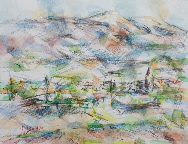 ヴァントゥー山とマザンの村_c0236929_18142446.jpg
