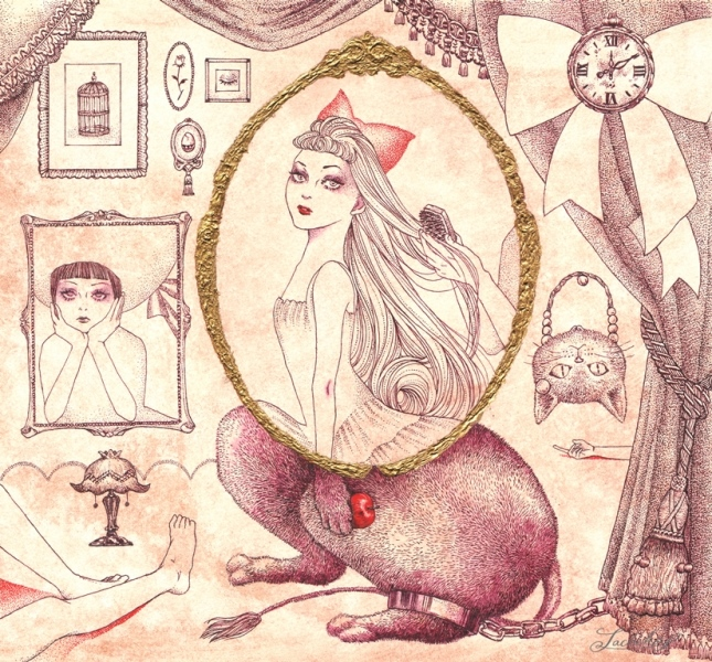 「レフレクシオン」(「鏡の中の少女性」参加作品) < イラストレーション72 >_f0228652_1730257.jpg