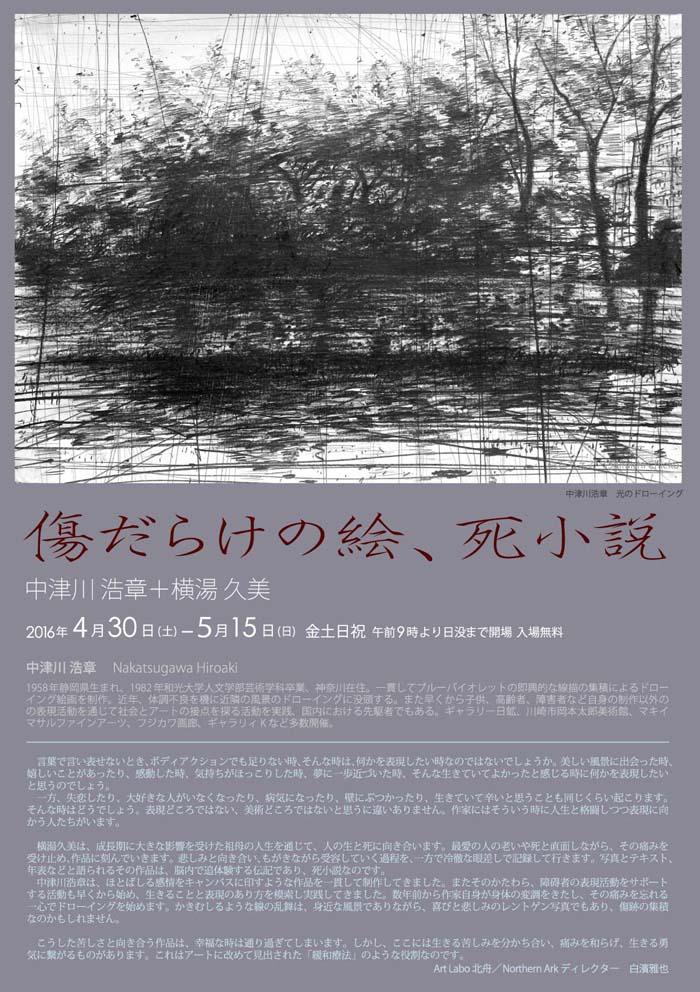 「傷だらけの絵、死小説 」中津川 浩章+横湯 久美 二人展_f0185280_22352725.jpg