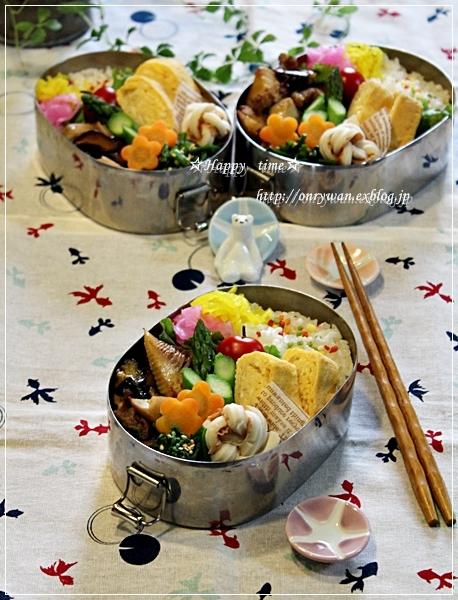 牛肉・茄子と筍の甘辛炒め弁当とハナミズキ♪_f0348032_18041798.jpg